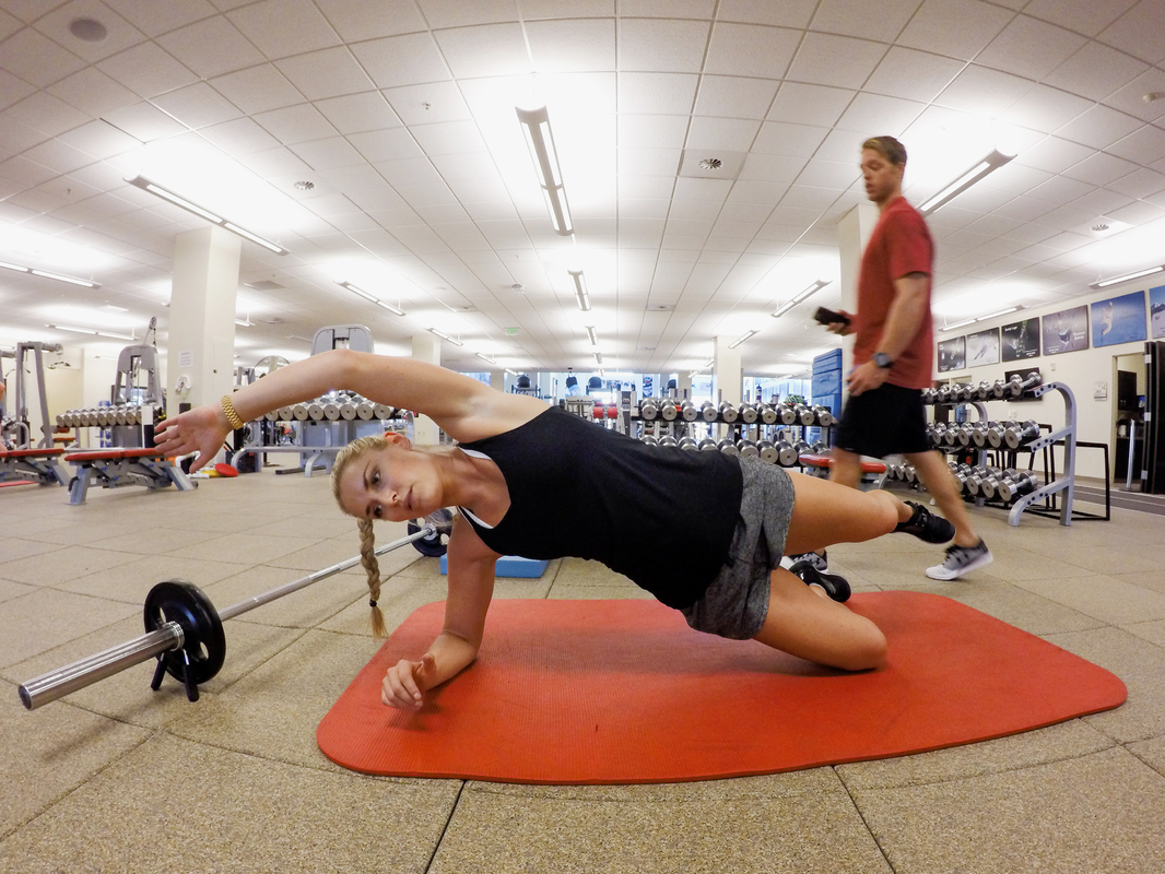 Lindsey Vonn works out after an injury at the U.S. Ski and Snowboard Association Center of Excellence. (U.S. Ski Team)