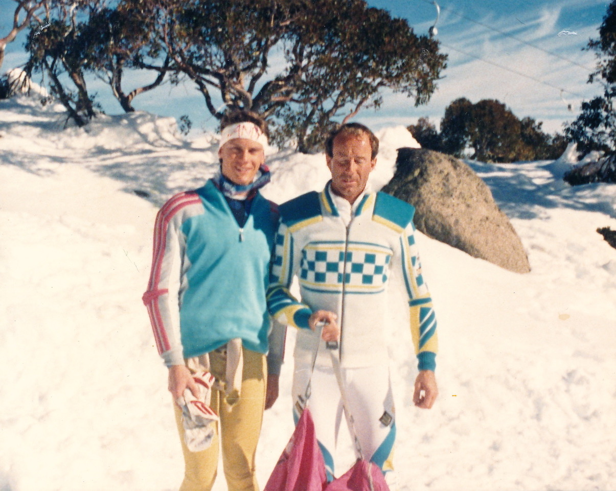 Andy McKeon with Stenmark