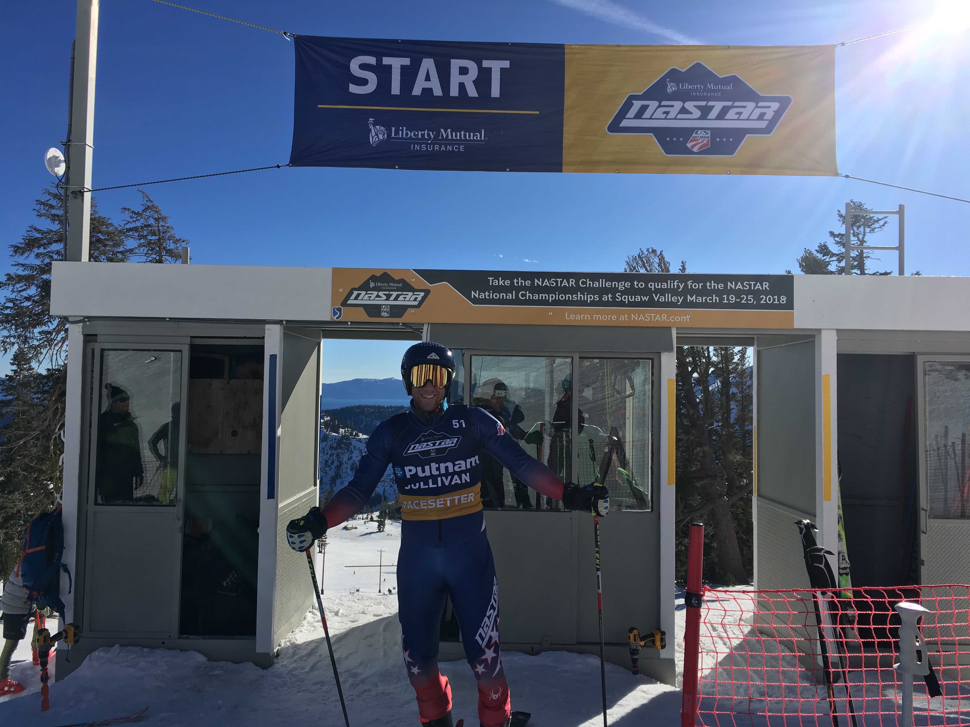 Marco Sullivan at the Squaw Valley Regional Pacesetting Trials
