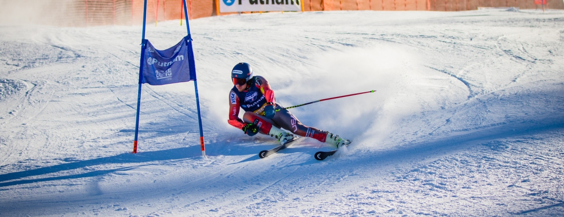 Ted Ligety Sets Pace (Justin Samuels)