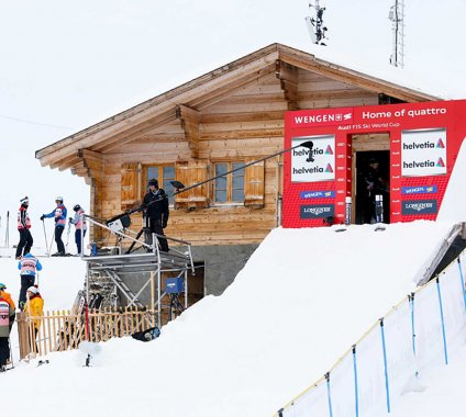 Ski Racing Re-Defined, some start huts are actual houses!
