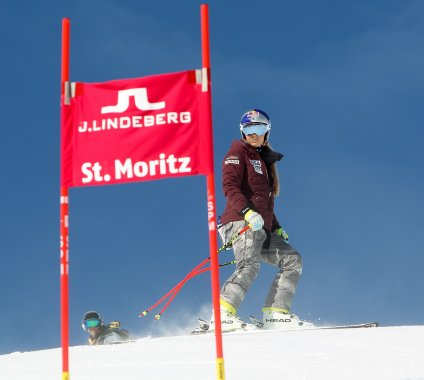 Lindsey Vonn at the St. Moritz World Championships